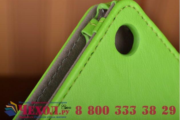"""Чехол бизнес класса для asus zenpad 10 z300cg/z300cl/z300c/z300m с визитницей и держателем для руки зеленый натуральная кожа """"prestige"""" италия"""