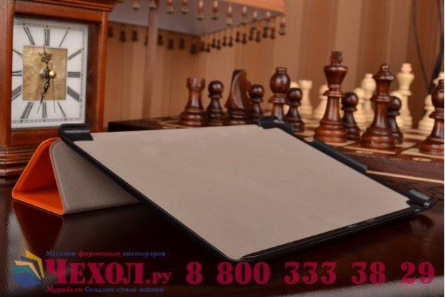 """Умный чехол-книжка самый тонкий в мире для asus zenpad 10 z300cg/z300cl/z300c/z300m """"il sottile"""" оранжевый кожаный"""