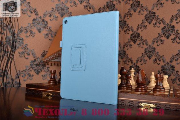 Чехол для asus zenpad 10 z300cg/z300cl/z300c/z300m голубой кожаный