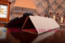 """Фирменный умный чехол самый тонкий в мире для планшета ASUS ZenPad 10 дюймов Z300CG/Z300CL/Z300C/Z300M """"Il Sottile"""" коричневый кожаный"""