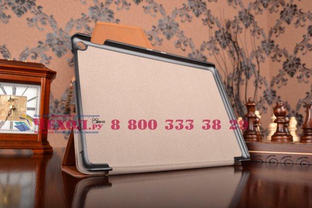 """Умный чехол самый тонкий в мире для планшета asus zenpad 10 дюймов z300cg/z300cl/z300c/z300m """"il sottile"""" коричневый кожаный"""
