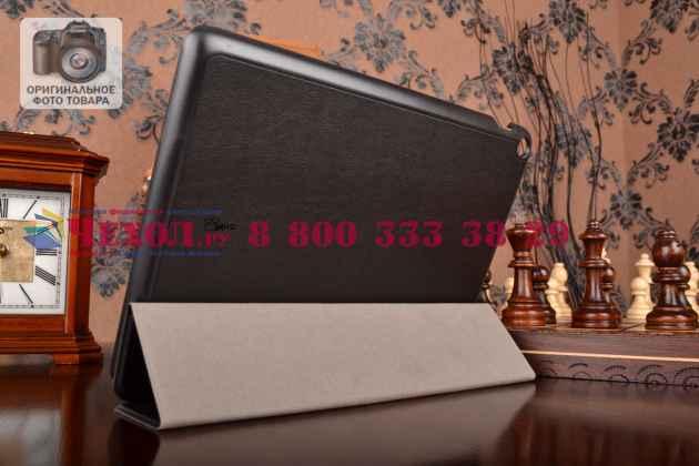 """Умный чехол самый тонкий в мире для планшета asus zenpad 10 z300cg/z300cl/z300c/z300m """"il sottile"""" черный кожаный"""