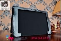 Фирменный чехол подставка для Asus EEE Pad Transformer TF101/TF101G с отделением под клавиатуру черный кожаный