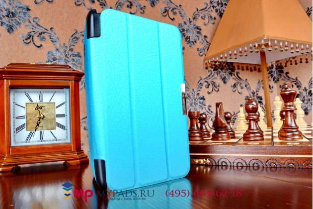 """Умный чехол-книжка самый тонкий в мире для asus fonepad 7 fe170cg model k012 """"il sottile"""" голубой пластиковый"""