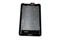 Фирменный LCD-ЖК-сенсорный дисплей-экран-стекло с тачскрином на планшет Asus Fonepad 7 FE170CG черный и инструменты для вскрытия + гарантия