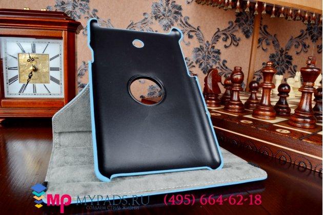 Чехол для asus fonepad 7 me372cg/me372cl model k00y поворотный роторный оборотный голубой кожаный