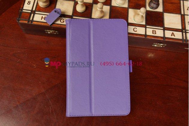 """Чехол-обложка для asus fonepad hd 7 me372cg с визитницей и держателем для руки фиолетовый натуральная кожа """"prestige"""" италия"""