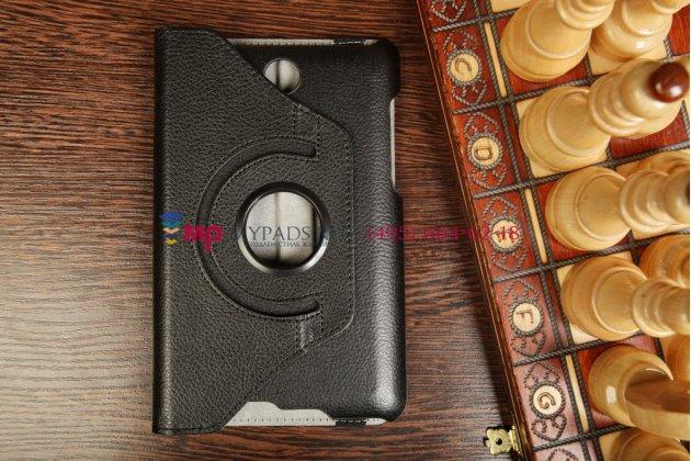 Чехол для asus fonepad me371mg поворотный роторный оборотный черный кожаный
