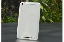 """Ультра-тонкая полимерная из мягкого качественного силикона задняя панель-чехол-накладка для asus memo pad 8 fhd me581cl k015 /k01h"""" белая"""