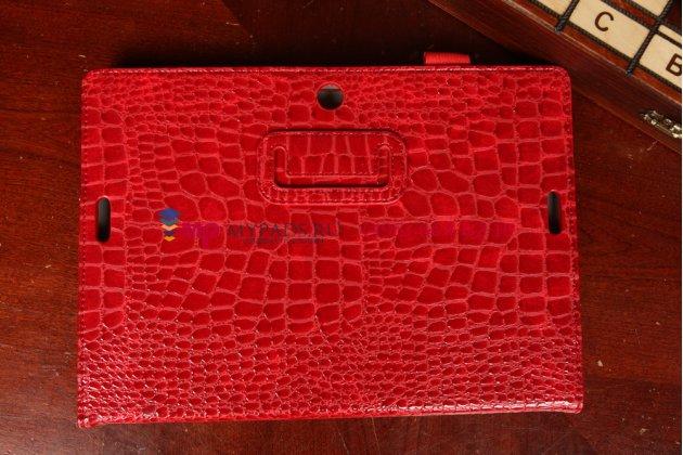 Чехол-футляр для asus memo pad fhd 10 me302kl model k005 лаковая кожа крокодила алый огненный красный