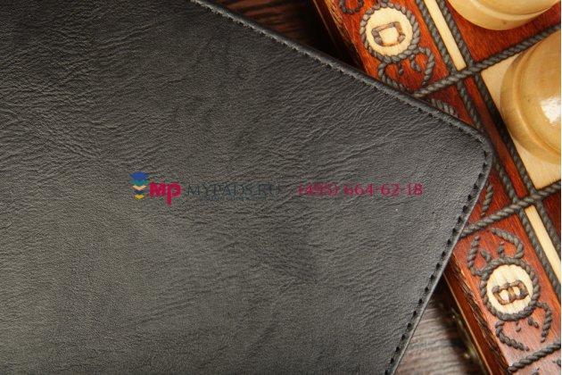 """Чехол-обложка для asus memo pad fhd 10 me302/me302kl с визитницей и держателем для руки черный натуральная кожа """"prestige"""" италия"""
