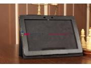 Чехол-обложка для Asus MeMo Pad Smart ME301T/ME301TG черный кожаный