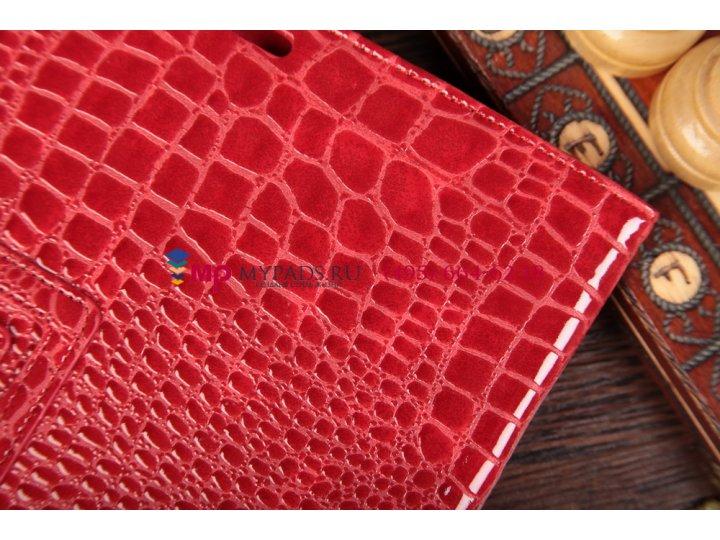 Чехол-обложка для asus memo pad smart me301t/me301tg model k001 кожа крокодила красный..