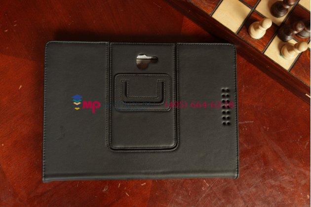 """Чехол-обложка для asus padfone 2 a68 с визитницей и держателем для руки черный кожаный """"prestige"""" италия"""