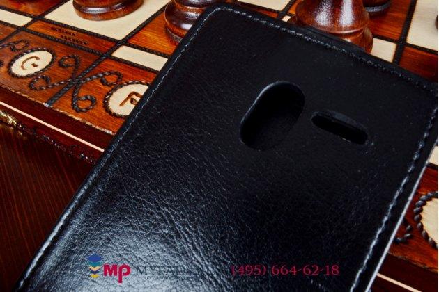 """Вертикальный откидной чехол-флип для asus padfone 2 a68 черный из качественной импортной кожи """"prestige"""" италия"""