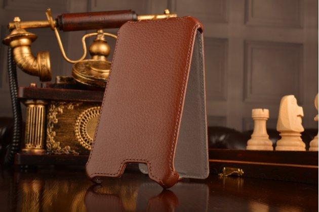 """Чехол-флип для телефона asus padfone infinity new a86 t004 коричневый натуральная кожа """"prestige"""" италия"""