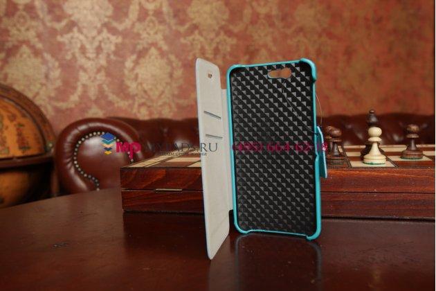 """Чехол-книжка для смартфона asus padfone 3 infinity a80 бирюзовый натуральная кожа """"prestige"""" италия"""
