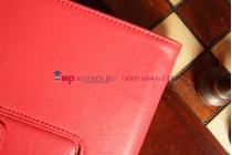 """Чехол-обложка для asus padfone 3 infinity a80 с визитницей и держателем для руки красный натуральная кожа """"prestige"""" италия"""