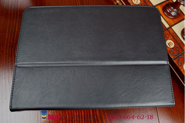 Чехол обложка для планшета (док станции) asus padfone s pf500kl черный кожаный
