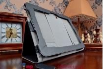 Фирменный чехол обложка для планшета (док станции) Asus Padfone S PF500KL черный кожаный