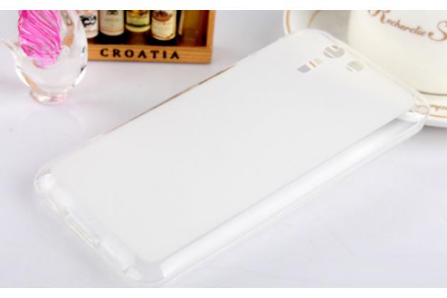 Ультра-тонкая полимерная из мягкого качественного силикона задняя панель-чехол-накладка для asus padfone s 5 pf500kl белая