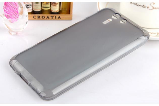 Ультра-тонкая полимерная из мягкого качественного силикона задняя панель-чехол-накладка для asus padfone s 5 pf500kl черная