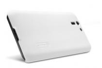 Фирменная задняя панель-крышка-накладка из тончайшего и прочного пластика для Asus Padfone S 5 PF500KL белая