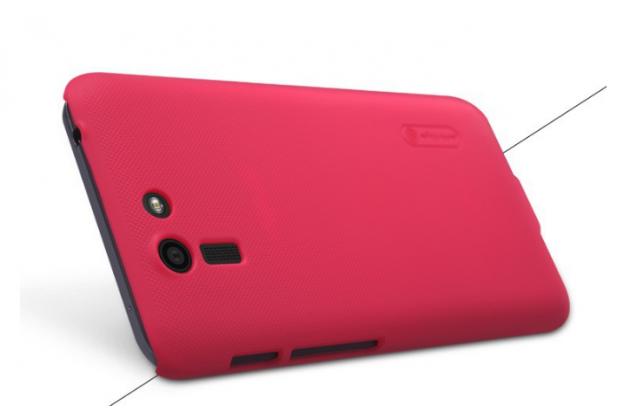 Задняя панель-крышка-накладка из тончайшего и прочного пластика для asus padfone s 5 pf500kl красная