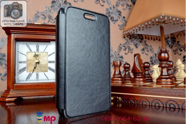 """Чехол-книжка для телефона asus padfone s 5 pf500kl черный натуральная кожа """"prestige"""" италия"""