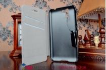 """Фирменный оригинальный чехол-книжка для телефона Asus Padfone S 5 PF500KL черный натуральная кожа """"Prestige"""" Италия"""