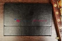Фирменный чехол-обложка-книжка для Asus Transformer Book T100TA model B045 чёрный  кожаный