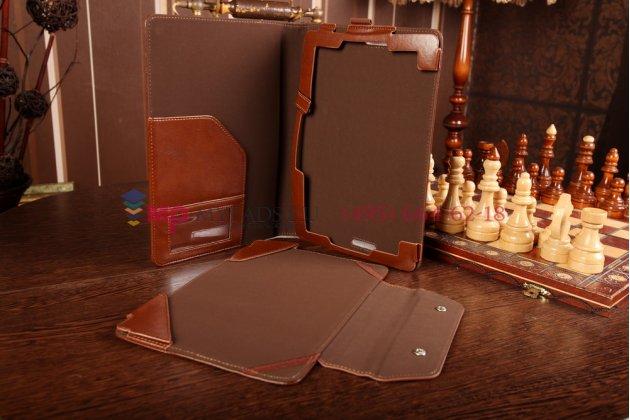 Чехол для asus transformer book t100ta model b079 dock keyboard с док-станцией коричневый кожаный