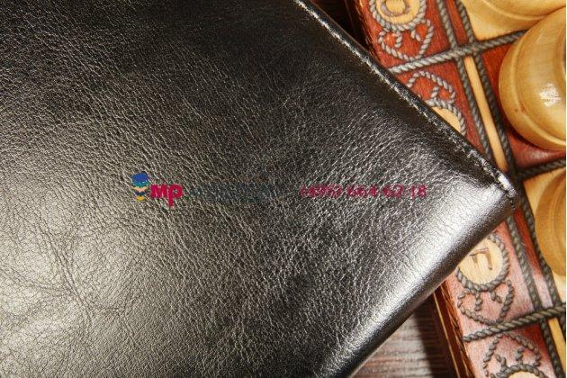 Чехол-обложка для asus new transformer pad infinity tf701t-1b027a dockс док-станцией черный кожаный