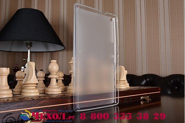 """Ультра-тонкая полимерная из мягкого качественного силикона задняя панель-чехол-накладка для asus zenpad 8.0 z380 z380kl z380c z380knl p024"""" белая"""