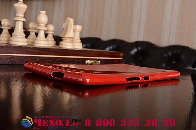 """Ультра-тонкая полимерная из мягкого качественного силикона задняя панель-чехол-накладка для asus zenpad 8.0 z380 z380kl z380c z380knl p024"""" красная"""