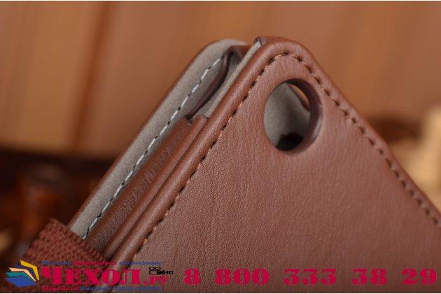"""Чехол бизнес класса для asus zenpad 8 z380c/z380kl z380knl с визитницей и держателем для руки коричневый натуральная кожа """"prestige"""" италия"""