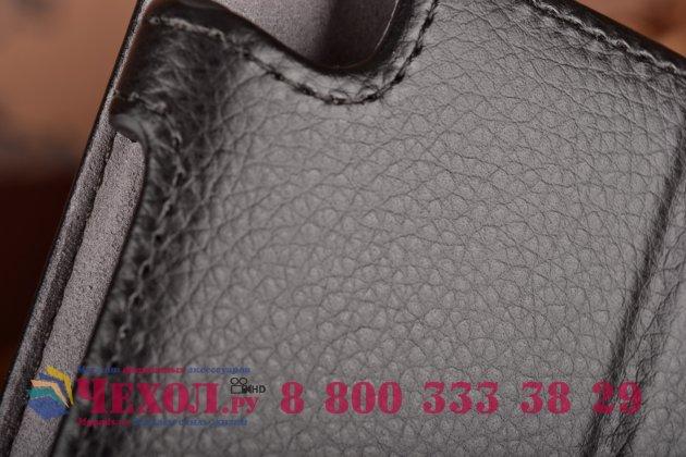 """Чехол для планшета asus zenpad 8 z380c/z380kl с мульти-подставкой и держателем для руки черный кожаный """"deluxe"""" италия"""