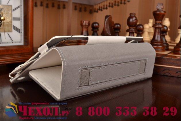 """Чехол бизнес класса для asus zenpad c 7.0 z170c/z170cg/z170mg с визитницей и держателем для руки белый натуральная кожа """"prestige"""" италия"""