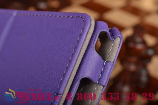 """Чехол бизнес класса для asus zenpad c 7.0 z170c/z170cg/z170mg с визитницей и держателем для руки фиолетовый натуральная кожа """"prestige"""" италия"""