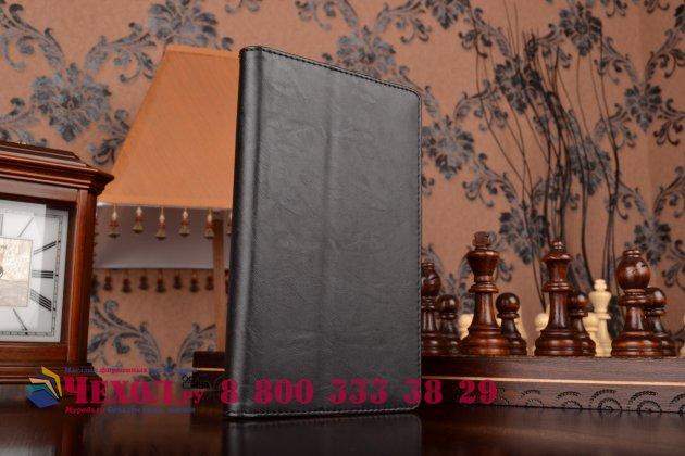 """Чехол обложка для asus zenpad c 7.0 z170c/z170cg/z170mg с визитницей и держателем для руки черный натуральная кожа """"prestige"""" италия"""