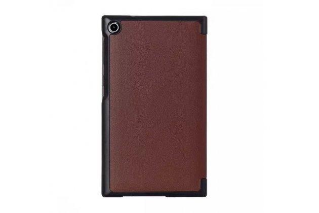 """Умный чехол самый тонкий в мире для планшета asus zenpad c 7.0 дюймов z170c/z170cg/z170mg """"il sottile"""" коричневый кожаный"""