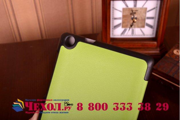 """Умный чехол-книжка самый тонкий в мире для asus zenpad c 7.0 z170c/z170cg/z170mg  """"il sottile"""" зеленый кожаный"""
