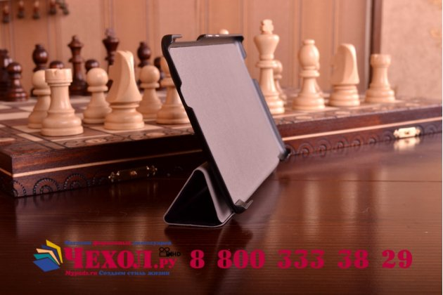 """Умный чехол самый тонкий в мире для планшета asus zenpad c 7.0 z170c/z170cg/z170mg """"il sottile"""" черный кожаный"""