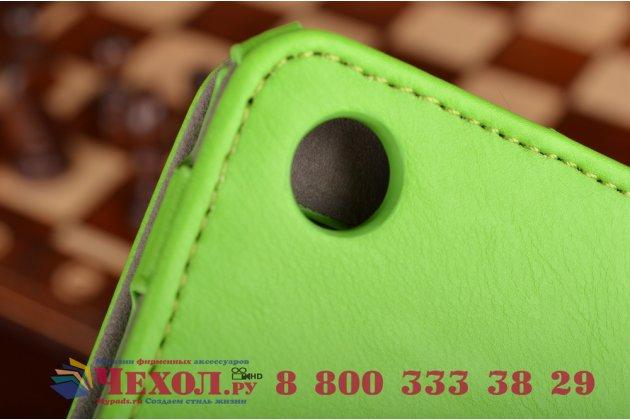 """Чехол бизнес класса для asus zenpad s 8.0 z580ca/z580c с визитницей и держателем для руки зеленый натуральная кожа """"prestige"""" италия"""