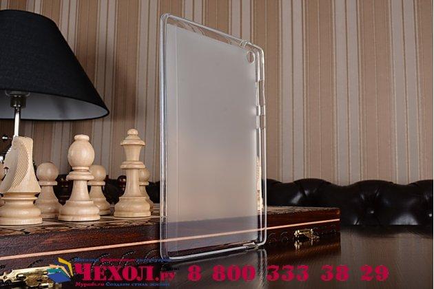 """Ультра-тонкая полимерная из мягкого качественного силикона задняя панель-чехол-накладка для asus zenpad s 8.0 z580ca/z580c"""" белая"""