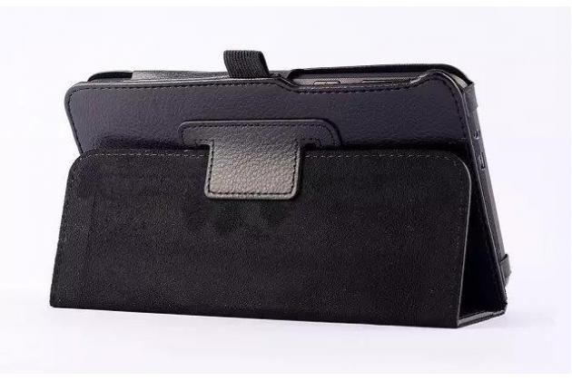 Чехол-обложка с подставкой для asus memo pad 7 me70c/me70cx черный кожаный