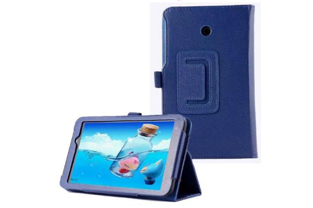 Чехол-обложка с подставкой для asus memo pad 7 me70c/me70cx синий кожаный