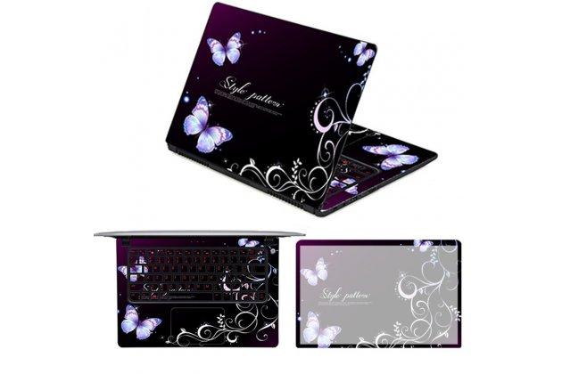 Защитная пленка-наклейка с 3d рисунком на твёрдой основе, которая не увеличивает планшет в размерах для asus transformer 3 t305ca (gw014t) 12.6 тематика радужные бабочки