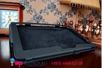 Чехол обложка для asus memo pad 10 me103k черный кожаный
