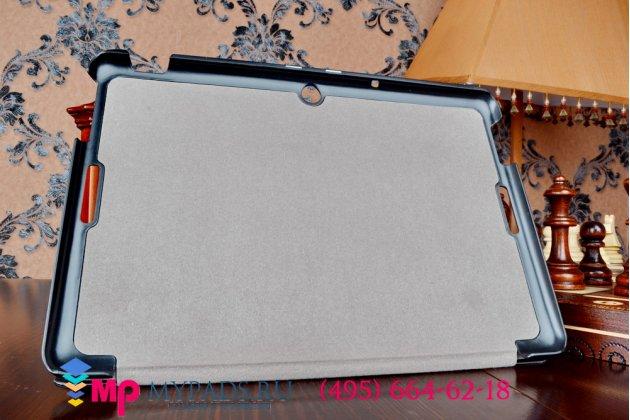 """Умный чехол самый тонкий в мире для планшета asus memo pad 10 me103k """"il sottile"""" черный пластиковый"""